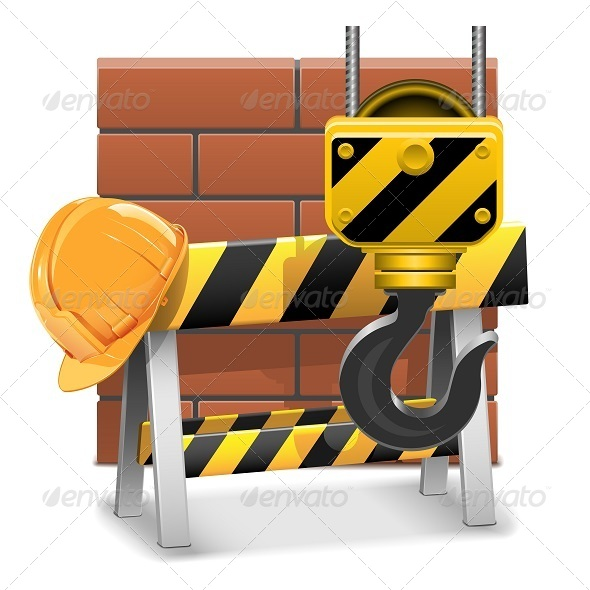GraphicRiver Vector Under Construction Concept with Bricks 5900670