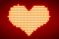 White Lights Forming Heart Over Red Background - PhotoDune Item for Sale