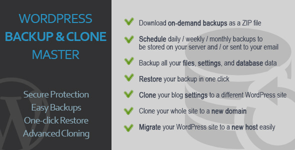 CodeCanyon WordPress Backup & Clone Master 5901461