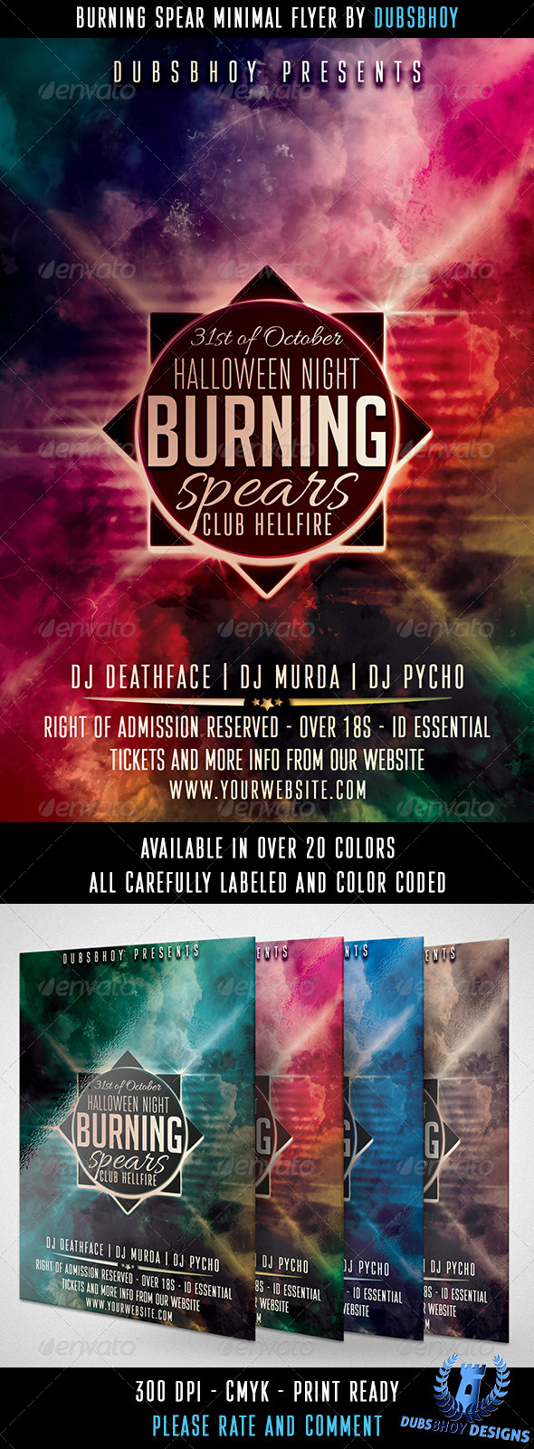 GraphicRiver Burning Spear Minimal Flyer 5901561