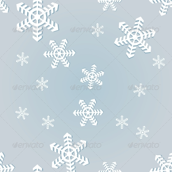 GraphicRiver Vector Seamless Pattern of Snowflakes 5901807