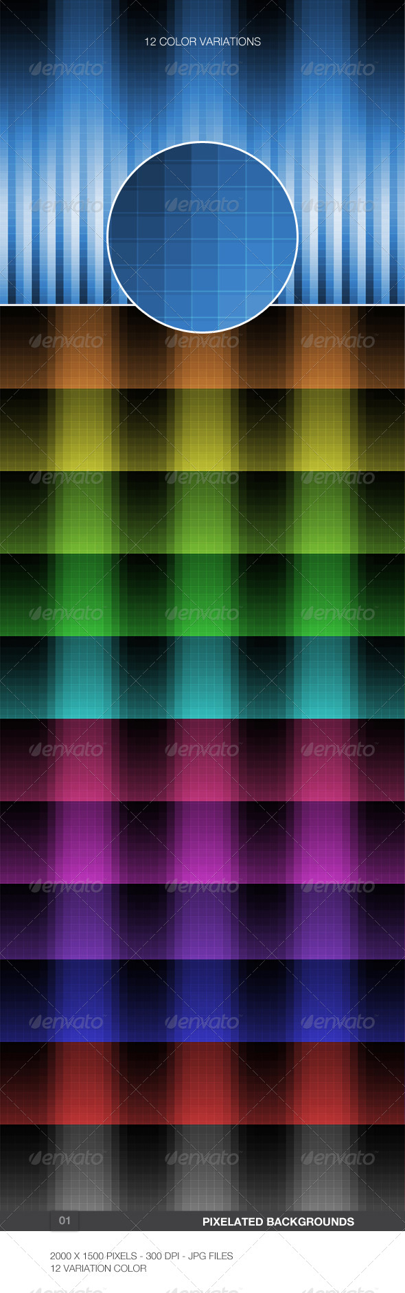 GraphicRiver Pixelated Backgrounds 01 5901839
