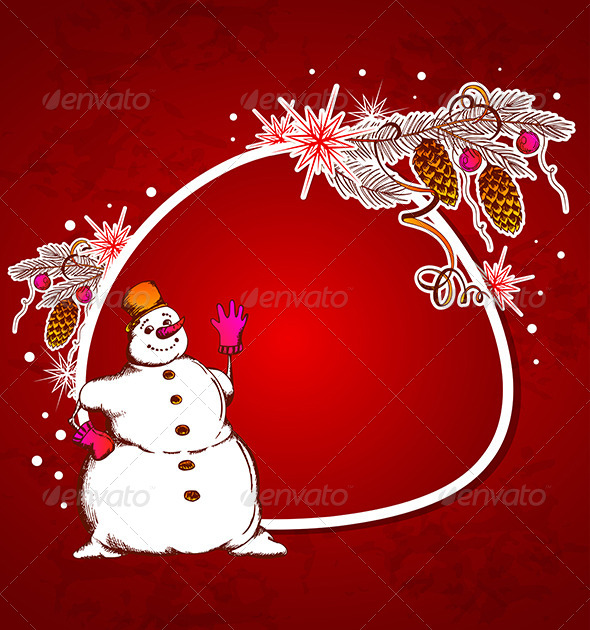 GraphicRiver Red Christmas Vector Background 5901914