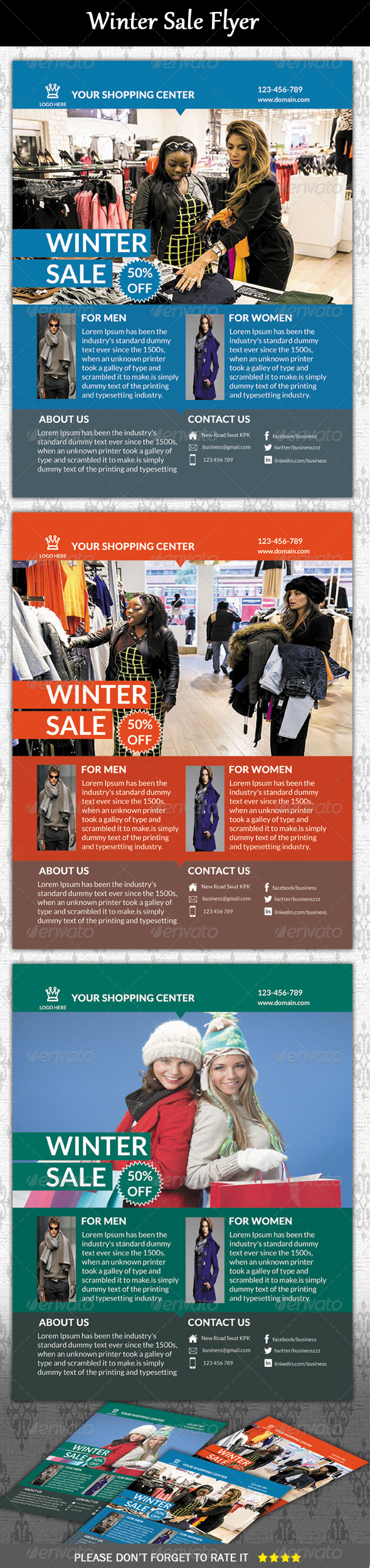 GraphicRiver Winter Sale Flyer 5902363