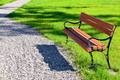 Bench in park in a sunny day - PhotoDune Item for Sale