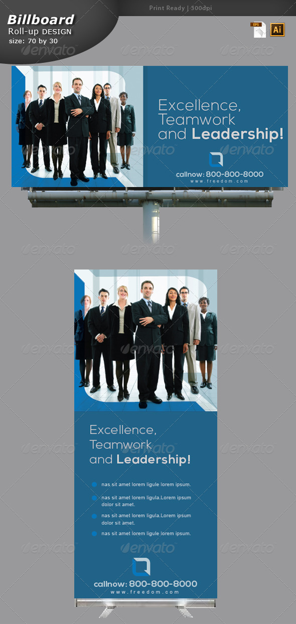 GraphicRiver Business Billboard and Roll-up Design 5902904