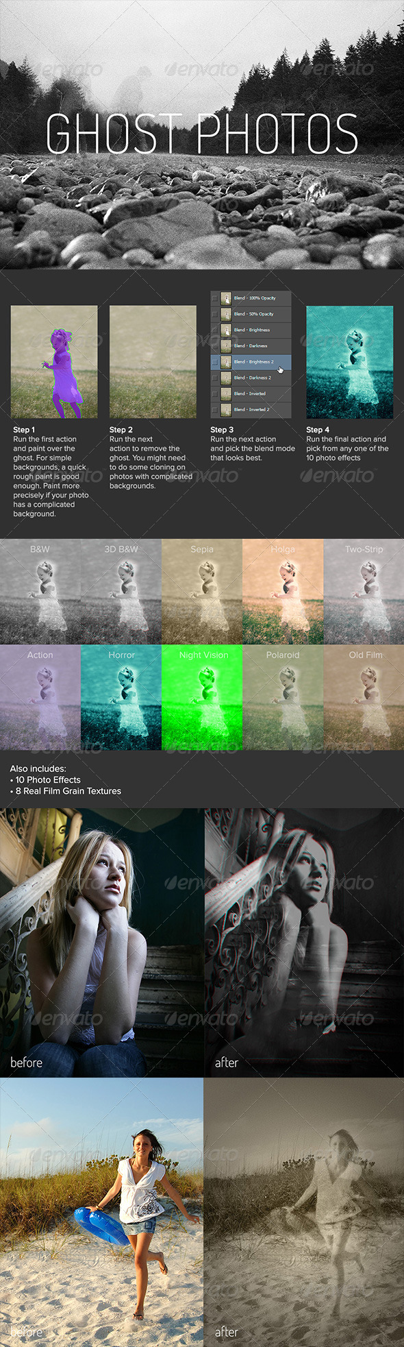 Ghost Photos - Photo Effects Actions