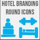 Hotel Branding Round Icons - GraphicRiver Item for Sale