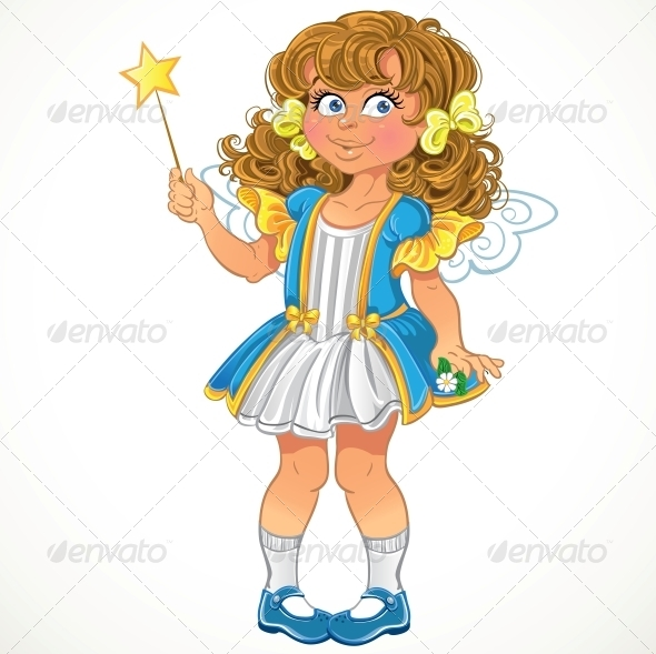 GraphicRiver Little Girl with Magic Wand 5903530