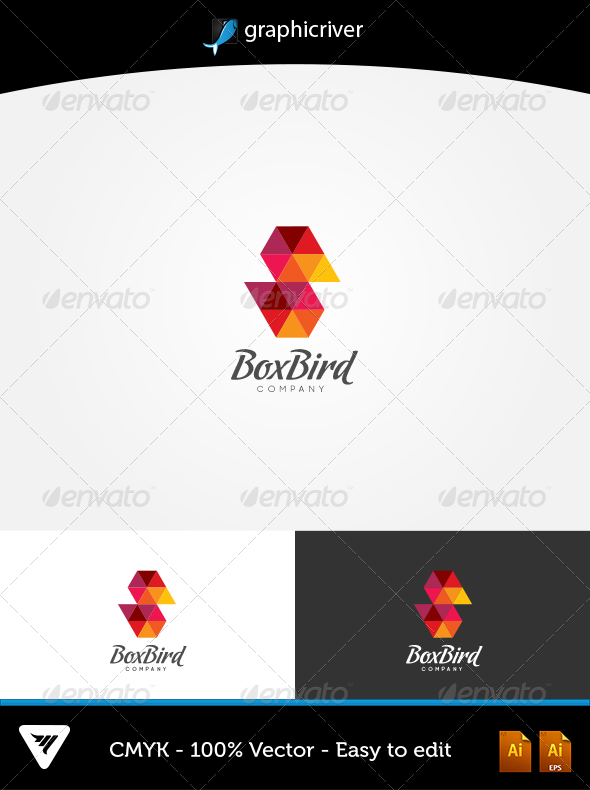 GraphicRiver Box Bird Logo 5903913