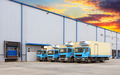 Transport Trucks Docking in warehouse - PhotoDune Item for Sale