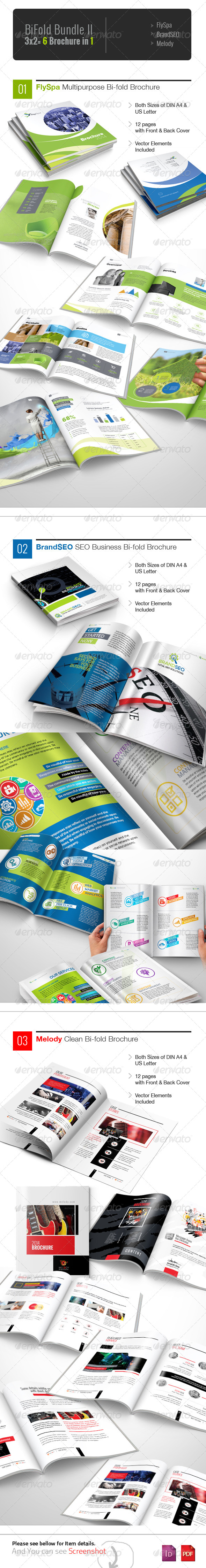 GraphicRiver Corporate Bifold Brochure Bundle II 5904715