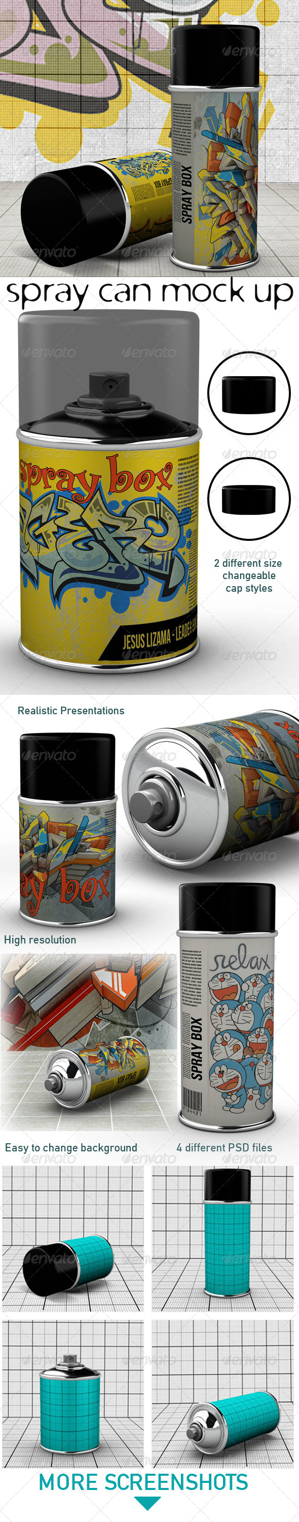 GraphicRiver Spray Can Mock Up 5905495