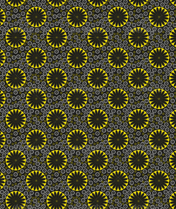 GraphicRiver Orange Flower Seamless Pattern Lemon Ice 5905551