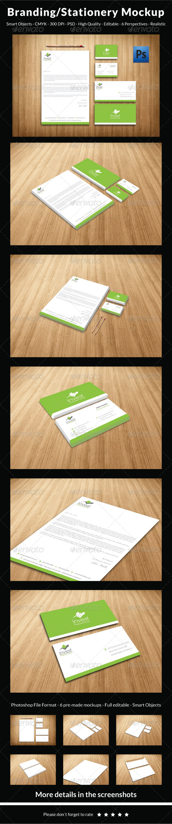 GraphicRiver Clean & Professional Branding Stationery Mockup 5881883