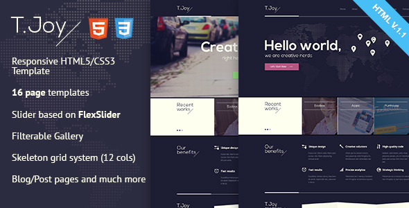 T.Joy - Flat Multipurpose HTML Template