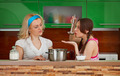 Two girlfriends on the kitchen - PhotoDune Item for Sale