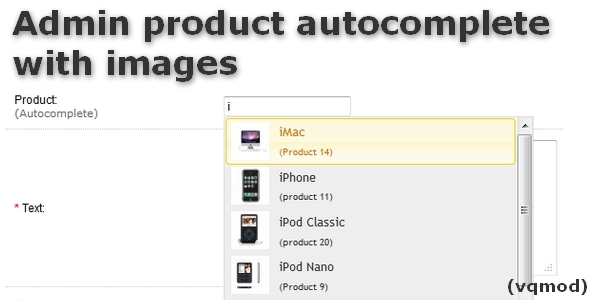 CodeCanyon Admin Products Autocomplete with Images 5907672