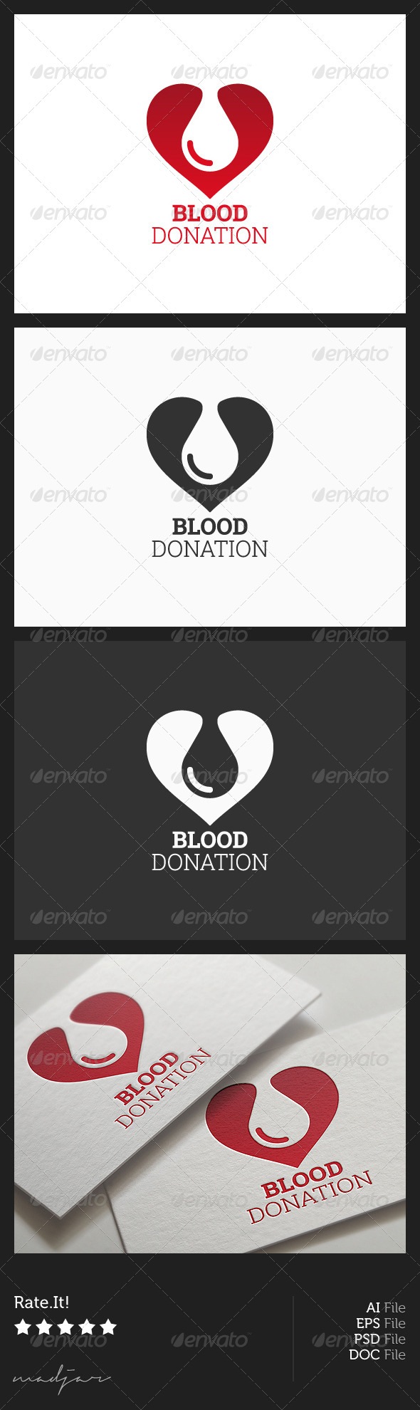 GraphicRiver Blood Donation Logo 5908392