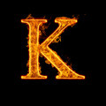 Fire alphabet letter K - PhotoDune Item for Sale