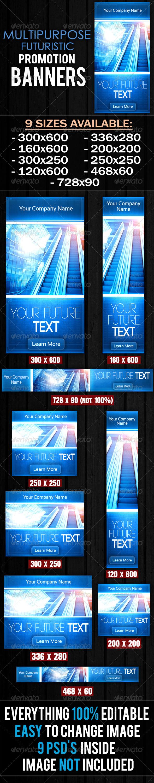 GraphicRiver Multipurpose Futuristic Banners 5909261