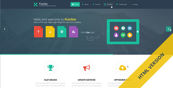 Flatible - Single Page HTML5 Template - Portfolio Creative