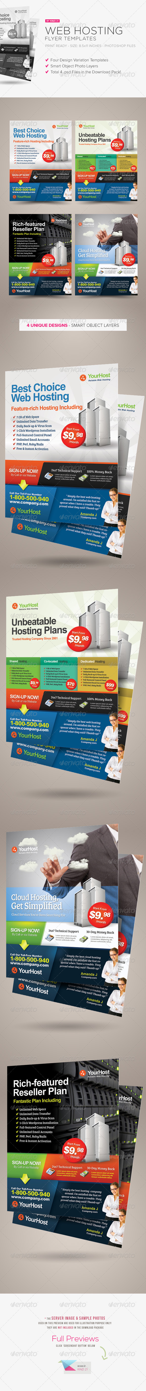 Premium Web Hosting Flyers - Corporate Flyers