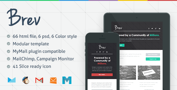 ThemeForest Brev Responsive Email Template 5912137