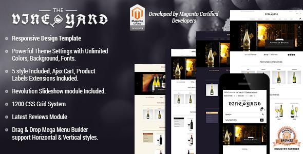 Responsive Magento Theme - Gala VineYard - Magento eCommerce