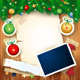 Christmas Background with Photo Frame - GraphicRiver Item for Sale