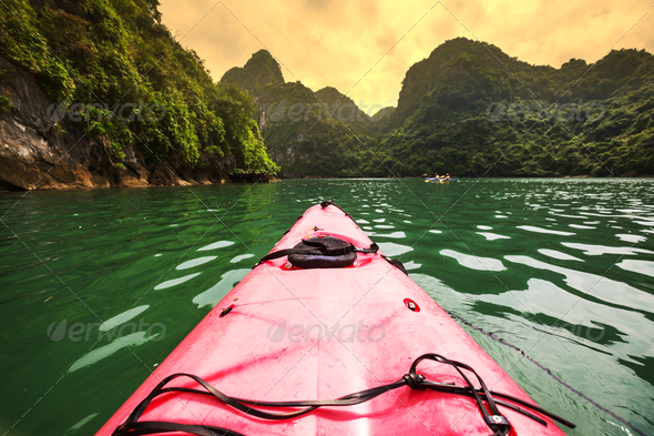 Canoe in Halong - Stock Photo - Images