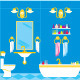 Picture of a Bathroom with Accessories and Lighting - GraphicRiver Item for Sale