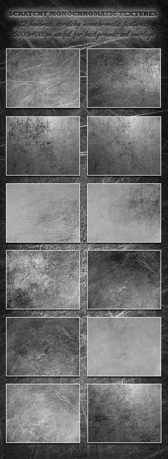 GraphicRiver Scratchy Monochromatic Textures 5889805
