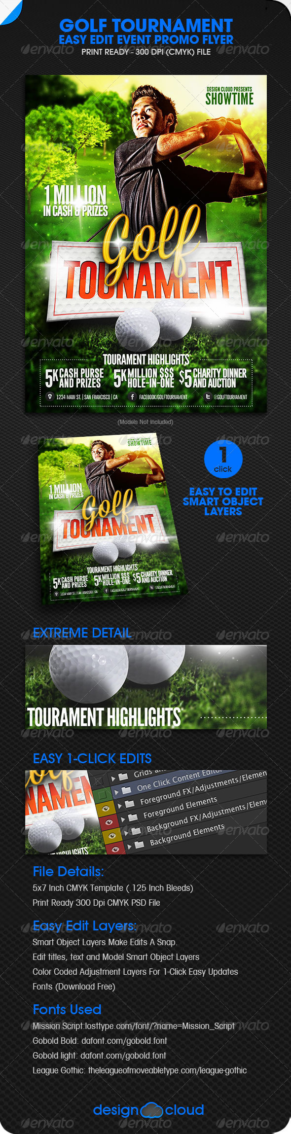 GraphicRiver Golf Tourament Event Promo Flyer 5875981