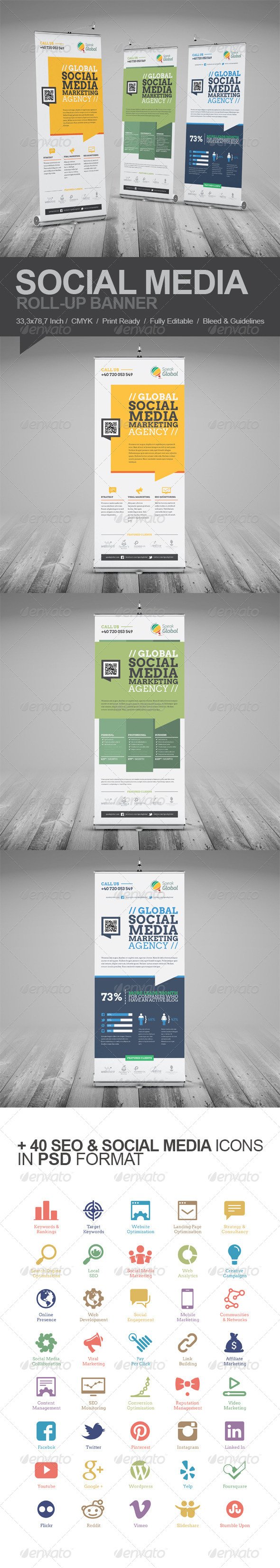 GraphicRiver Social Media Marketing Roll-Up Banner 5914331