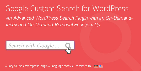 CodeCanyon Google Custom Search for WordPress Plugin 5914335