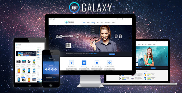 The GALAXY - Responsive Multi-Purpose PSD Theme - Corporate PSD Templates