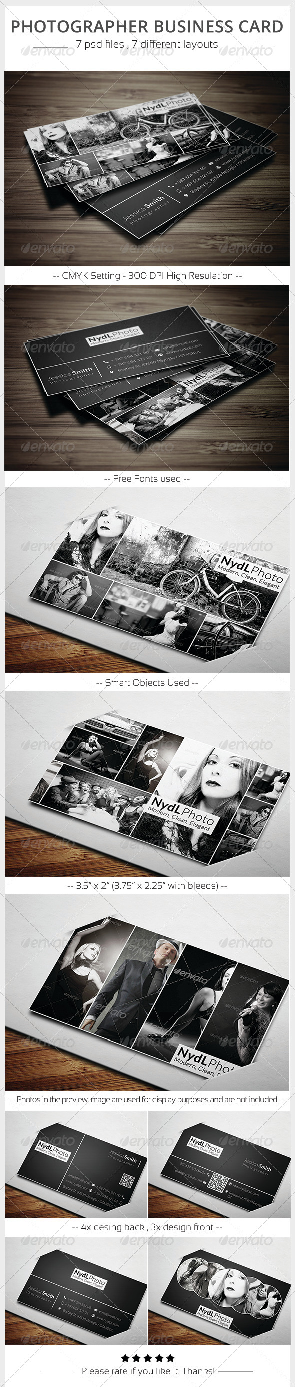 GraphicRiver Photographer Business Card 5882569