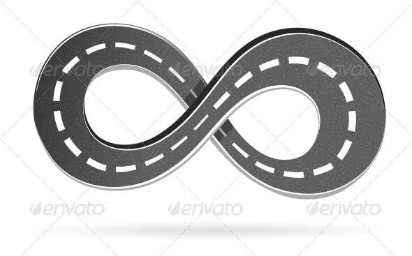 GraphicRiver Road in the Shape of an Infinity Sign 5915214