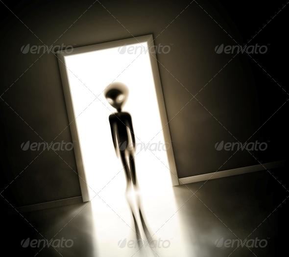 GraphicRiver Alien at Door 5915369