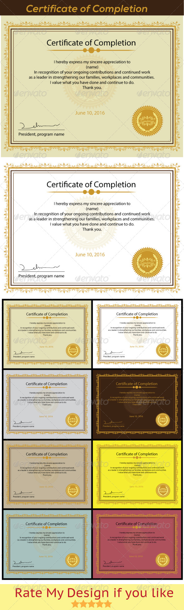 GraphicRiver Certificate of Completion 5847004