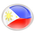 Philippines Flag Icon, isolated on white background. - PhotoDune Item for Sale