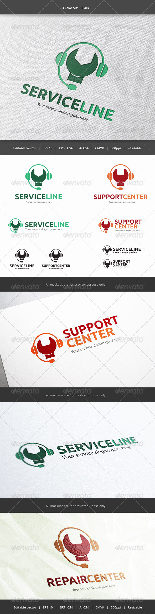 GraphicRiver Service Line Logo 5916393