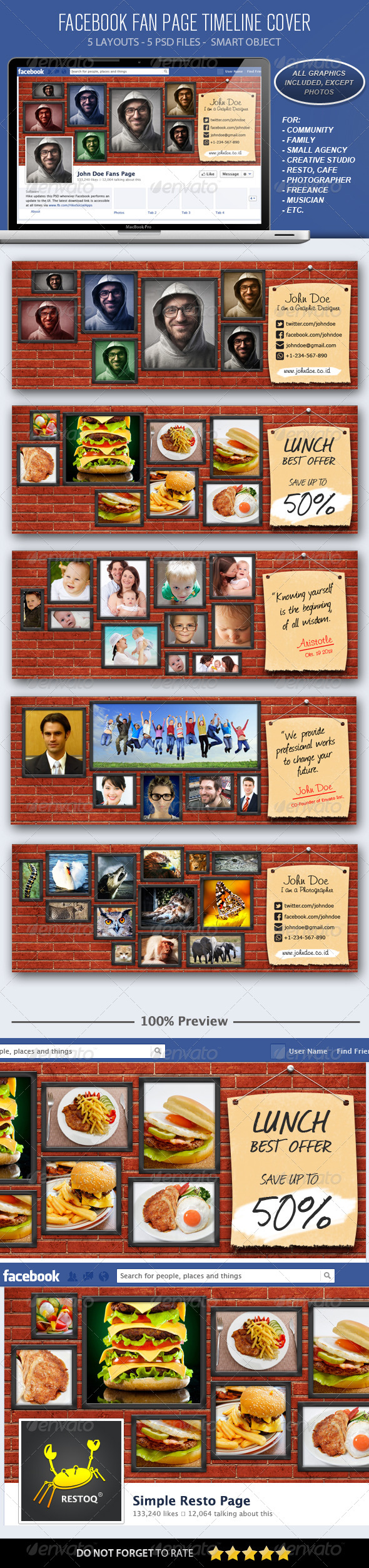 GraphicRiver Facebook Fans Page Cover Wall Photos 5904919