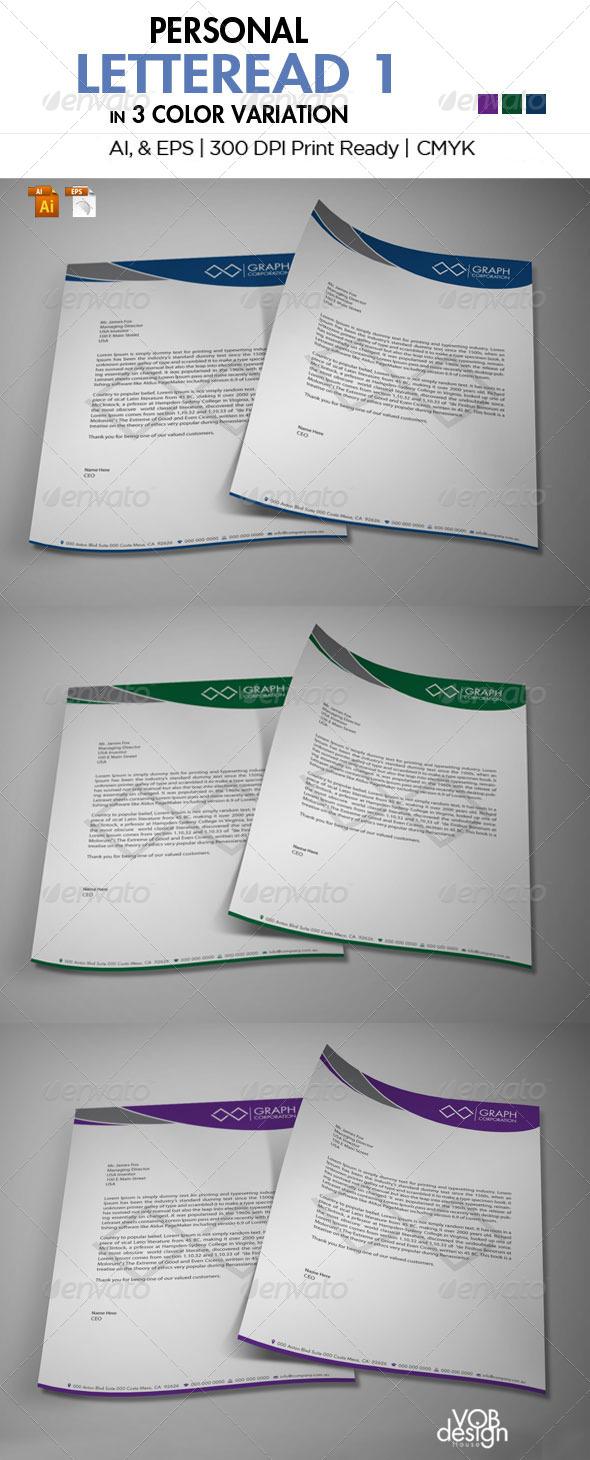 GraphicRiver Personal Letterhead 1 5916963