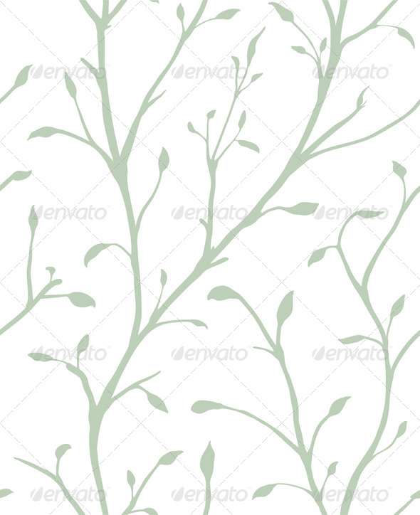 GraphicRiver Ornamental Plant with Leaves Seamless Pattern 5917381