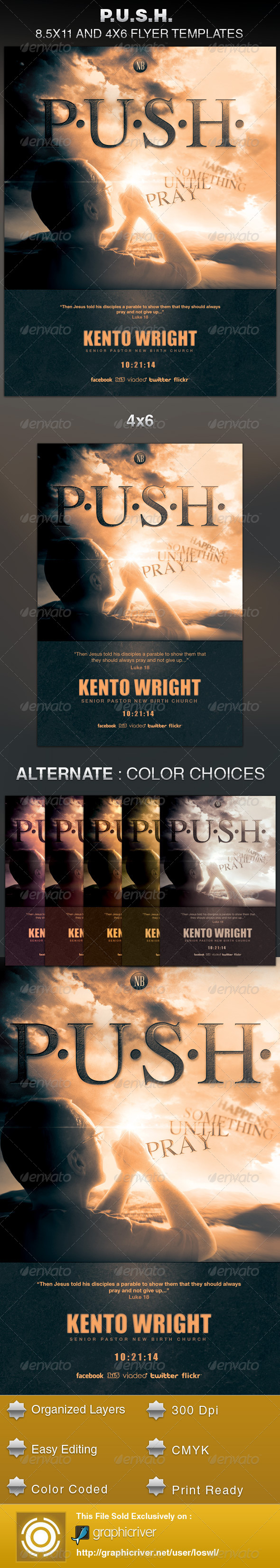 GraphicRiver P.U.S.H Church Flyer Template 5918496
