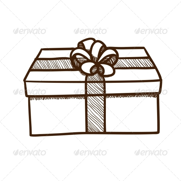 GraphicRiver Present Box with Ribbon and Bow 5919360