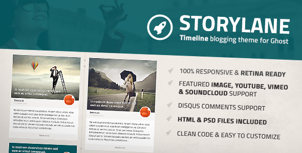 ThemeForest Storylane Timeline Ghost Theme 5919525