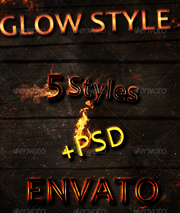 GraphicRiver New Text Glow Styles 616091